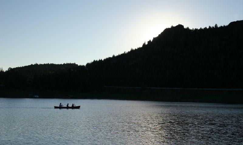 Canoeing on Ochoco Reservoir