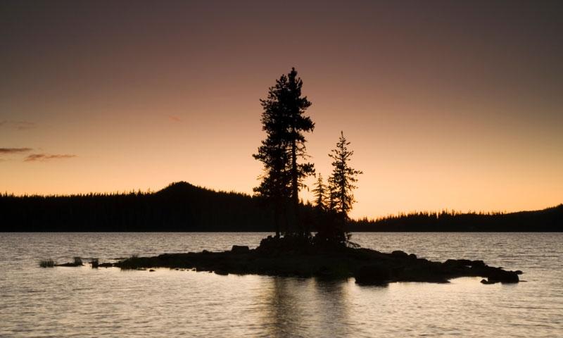 Waldo Lake Silhouette
