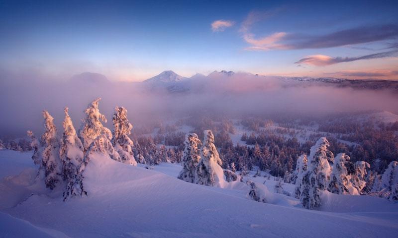 Winter Sunrise on the Three Sisters
