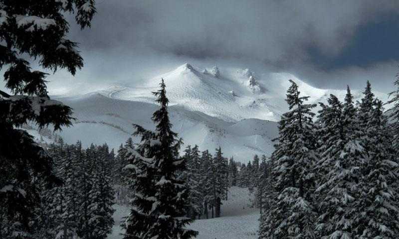 Snow Covered Mount Bachelor