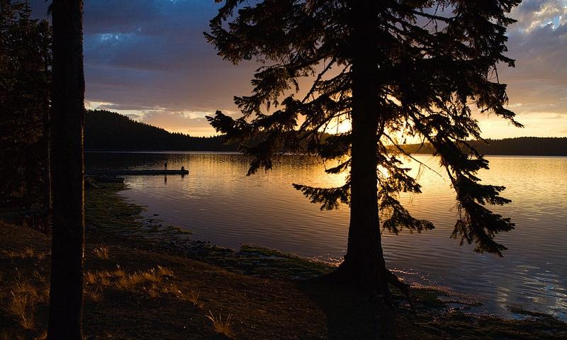 Paulina Lake at Newberry Volcanic Monument