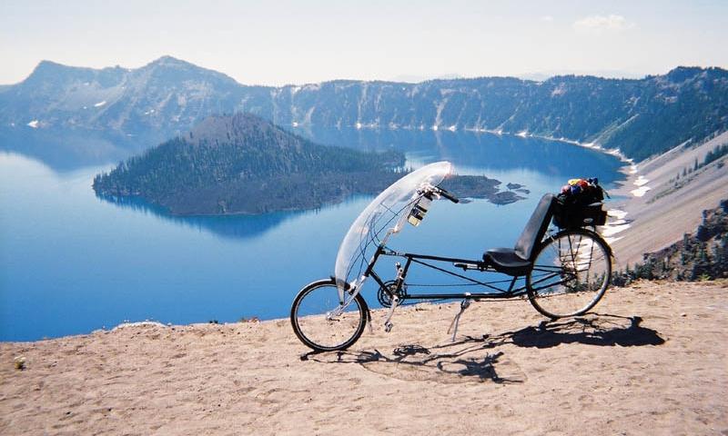 Biking near Crater Lake Park