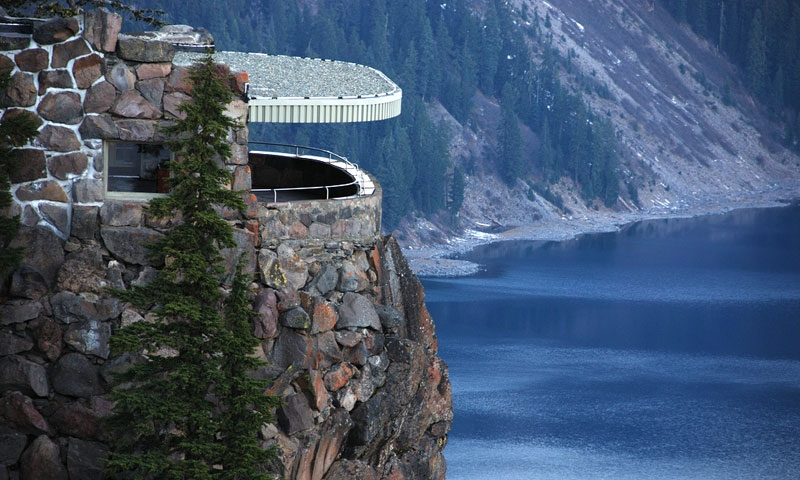 View From The Lodge At Crater Lake