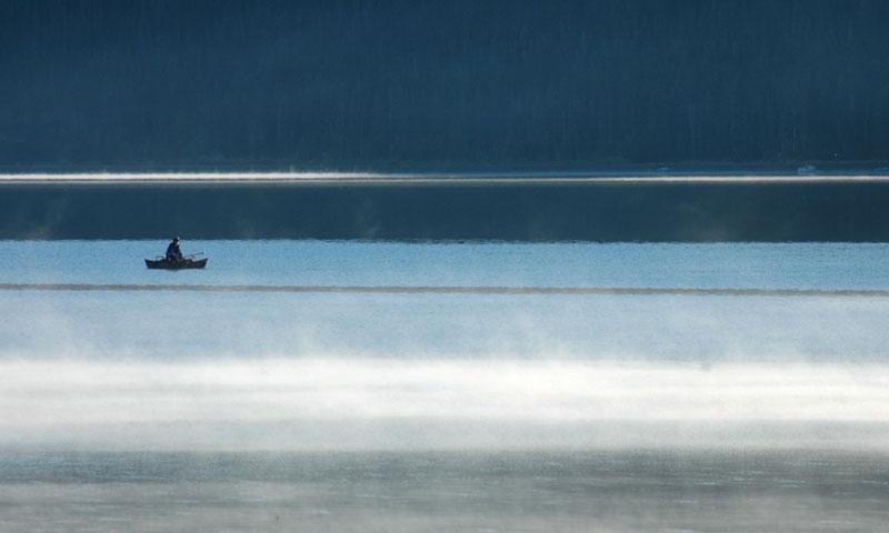 Fishing on East Lake