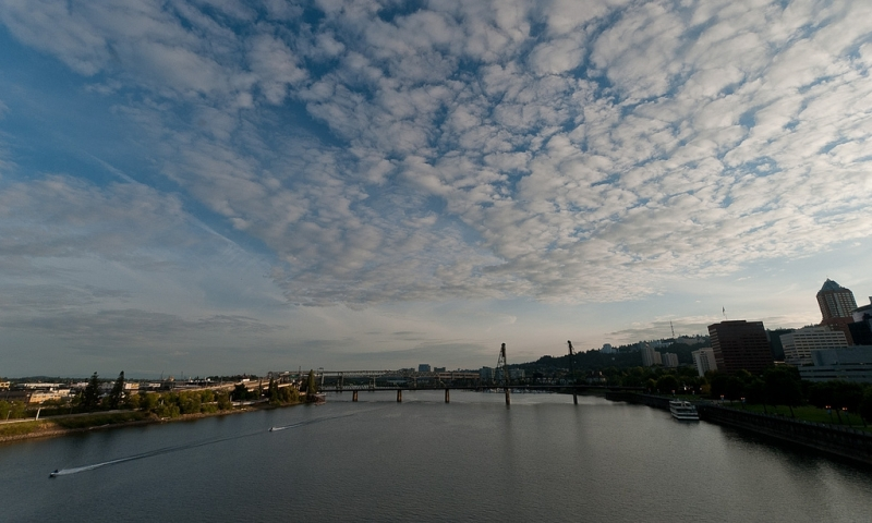 Willametter River and Portland Bridges