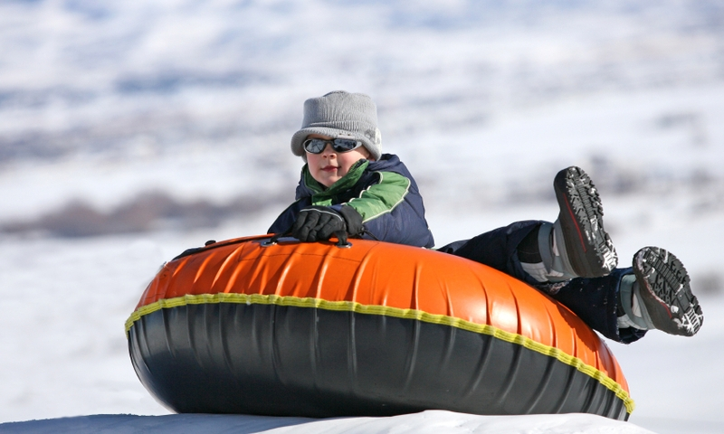 Bend Oregon Kids Snow Tubing