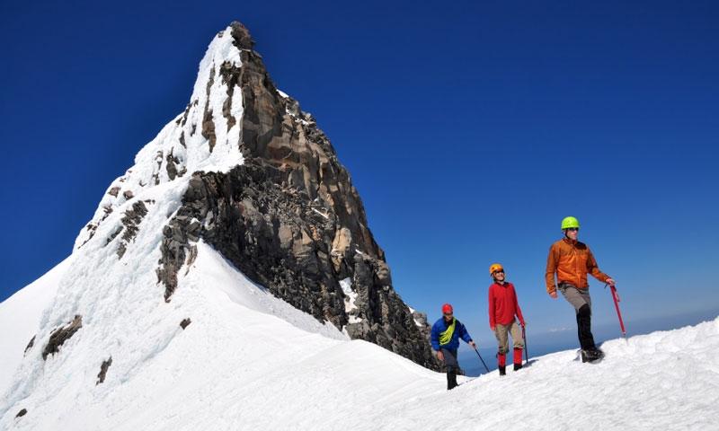 Climbing Mount Jefferson