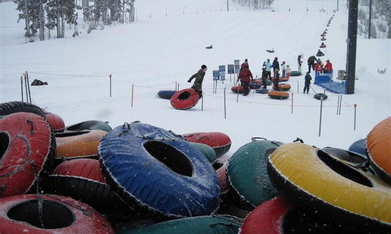Tubing at Mount Bachelor in Bend Oregon